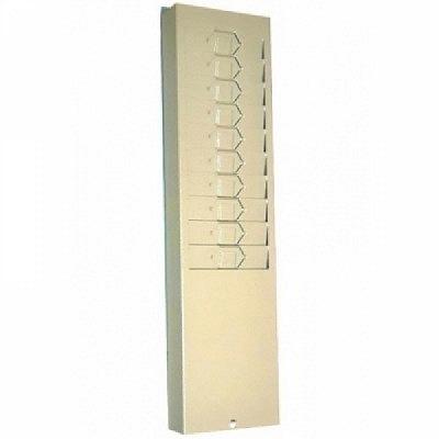 Stempelkartenhalter, 10-fach, hellgrau aus Metall.
