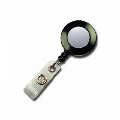 10 Stk. Mini JoJo Gurtclip (schwarz) aus Kunststoff, mit Gewebelasche.