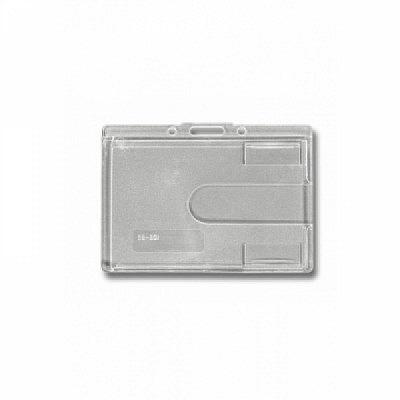 10 Stk. Badgehalter transparent (waagrecht) aus Hartplastik.