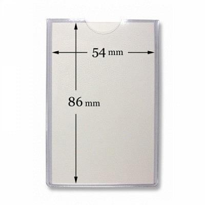 10 Stk. Badgehalter transparent, aus Weichplastik.
