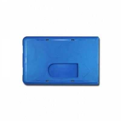 10 Stk. Badgehalter blau, aus Hartplastik.