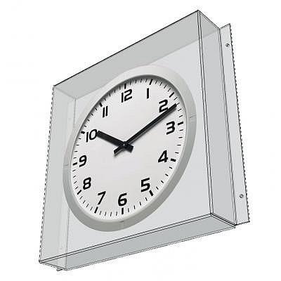 Polycarbonat Abdeckung Modell 40, für Wanduhren, bis 45cm Durchmesser.