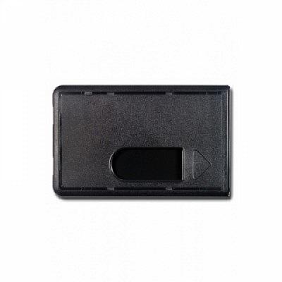 10 Stk. Badgehalter schwarz, aus Hartplastik.