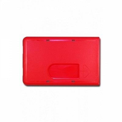 10 Stk. Badgehalter rot, aus Hartplastik.