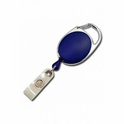10 Stk. Yo-Yo (blau) aus Kunststoff, mit Gewebelasche und Befestigungsbügel.