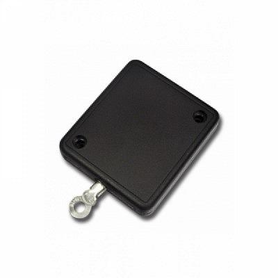 10 Stk. Jo-Jo für Waren- und Diebstahlsicherung viereckig, schwarz.