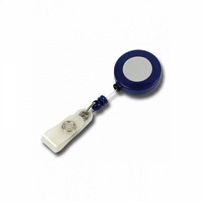 10 Stk. Mini JoJo Gurtclip (blau) aus Kunststoff, mit Gewebelasche.