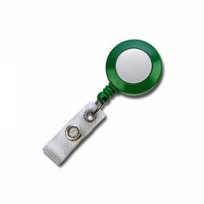 10 Stk. Mini JoJo Gurtclip (grün) Kunststoff, mit Gewebelasche.