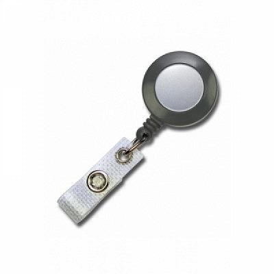 10 Stk. Mini JoJo Gurtclip (grau) Kunststoff, mit Gewebelasche.