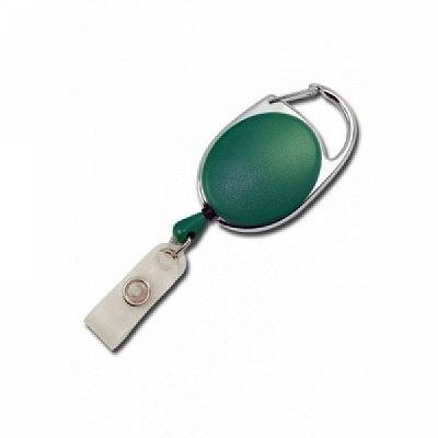 10 Stk. Yo-Yo (grün) aus Kunststoff, mit Gewebelasche und Befestigungsbügel.