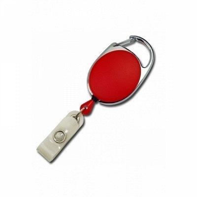 10 Stk. Yo-Yo (rot) aus Kunststoff, mit Gewebelasche und Befestigungsbügel.