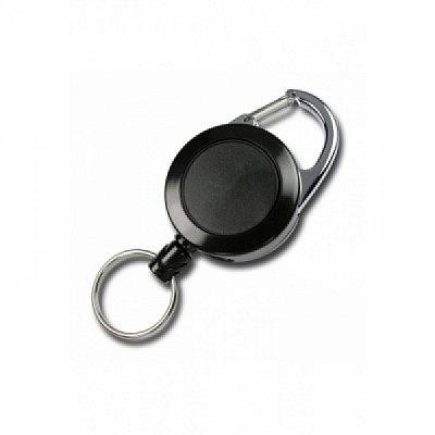 10 Stk. Kunststoff JoJo (schwarz) mit Befestigungsbügel und Schlüsselring.