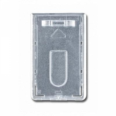 10 Stk. Badgehalter transparent (senkrecht) aus Hartplastik.