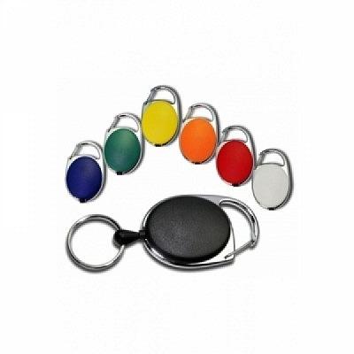 10 Stk. Yo-Yo (schwarz) aus Kunststoff, mit Schlüsselring und Befestigungsbügel.