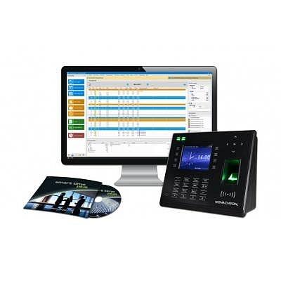 Zeiterfassungsset Angebot 1, Smart Time Plus inklusive Terminal NTB 960 mit Fingerprint- und RFID Leser.